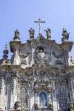 Detalhe da fachada da igreja de Carmelitas e da igreja de Carmo, em Porto Imagens de Stock Royalty Free