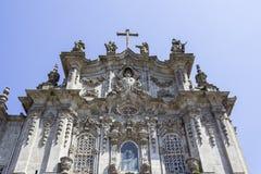 Detalhe da fachada da igreja de Carmo, em Porto Fotografia de Stock