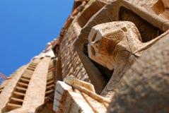 Detalhe da fachada de Sagrada Familia   imagens de stock