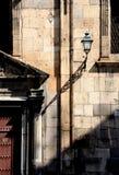 Detalhe da fachada de uma igreja velha Fotos de Stock Royalty Free