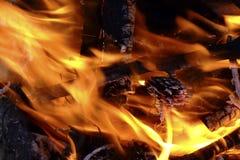 Detalhe da fogueira Imagens de Stock