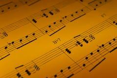 Detalhe da folha de música Fotos de Stock Royalty Free