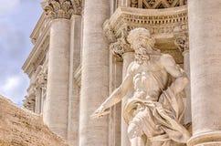 Detalhe da fonte do Trevi, Roma - Itália foto de stock royalty free