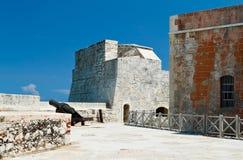 Detalhe da fortaleza do EL Morro em Havana, Cuba Imagens de Stock Royalty Free