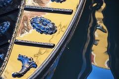 Detalhe da gôndola fotografia de stock