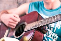 Detalhe da guitarra Fotografia de Stock Royalty Free