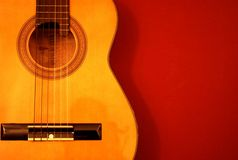 Detalhe da guitarra Fotografia de Stock