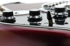 Detalhe da guitarra elétrica fotografia de stock