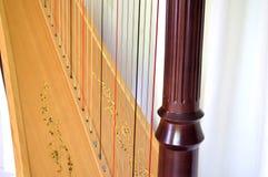Detalhe da harpa do pedal Fotos de Stock Royalty Free