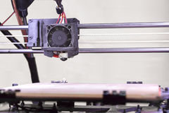 Detalhe da impressora 3D Fotografia de Stock Royalty Free