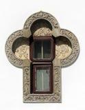 Detalhe da janela do monastério, Sinaia, Romênia Fotografia de Stock Royalty Free