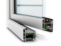 Detalhe da janela do PVC Fotos de Stock Royalty Free