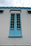 Detalhe da janela em Masjid Jamek Dato Bentara Luar em Batu Pahat, Johor, Malásia imagens de stock royalty free