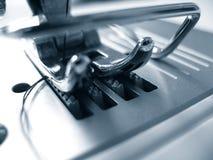 Detalhe da máquina de costura Imagens de Stock