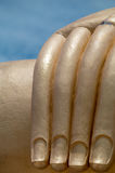Detalhe da mão de Buda grande Fotografia de Stock