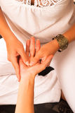 Detalhe da massagem Fotografia de Stock Royalty Free