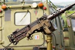 Detalhe da metralhadora foto de stock