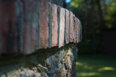 Detalhe da parede de tijolo imagem de stock royalty free
