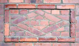 Detalhe da parede de tijolo do vintage Fotos de Stock Royalty Free