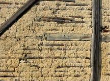 Detalhe da parede de uma casa da quinta japonesa velha Foto de Stock Royalty Free