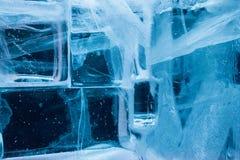 Detalhe da parede dos blocos de gelo do iglu Imagem de Stock Royalty Free