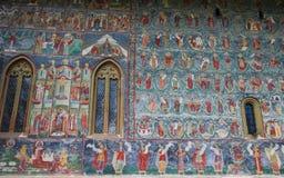 Detalhe da pintura do monastério de Sucevita Fotografia de Stock