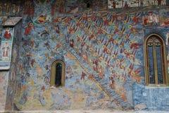 Detalhe da pintura do monastério de Sucevita Fotos de Stock Royalty Free