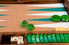 Detalhe da placa de Backgammon do vintage Imagem de Stock
