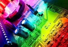 Detalhe da placa de circuito Imagens de Stock Royalty Free
