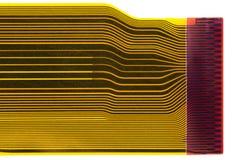 Detalhe da placa de circuito impresso flexionada (FPC) Fotografia de Stock Royalty Free
