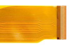 Detalhe da placa de circuito impresso flexionada (FPC) Imagens de Stock