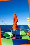 Detalhe da plataforma do navio de cruzeiros Fotos de Stock Royalty Free