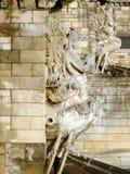 Detalhe da ponte Chain de Széchenyi em Budapest fotos de stock