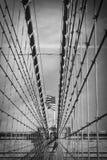Detalhe da ponte de Brooklyn foto de stock