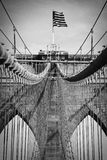 Detalhe da ponte de Brooklyn fotos de stock