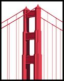 Detalhe da ponte de porta dourada Imagens de Stock Royalty Free