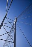 Detalhe da ponte de suspensão foto de stock