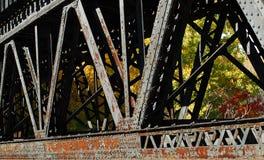 Detalhe da ponte do trem Fotos de Stock Royalty Free