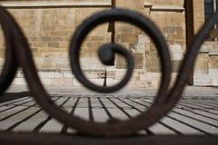 Detalhe da porta da catedral do ³ n de LeÃ, Espanha imagem de stock