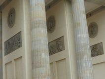 Detalhe da porta de Brandemburgo de Berlim no estilo dorico-romano germany imagem de stock