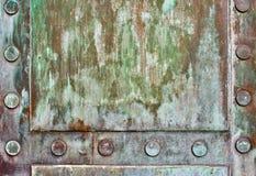Detalhe da porta de bronze fotos de stock royalty free