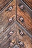 Detalhe da porta de madeira velha Fotografia de Stock Royalty Free