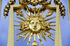Detalhe da porta de Versalhes fotografia de stock