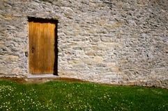 Detalhe da porta do castelo de Ross em killarney Imagens de Stock