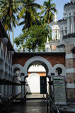 Detalhe da porta em Kuala Lumpur Jamek Mosque em Malásia Fotografia de Stock Royalty Free