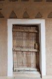 Detalhe da porta no forte de Al Masmak imagem de stock