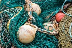 Detalhe da rede de pesca Fotos de Stock Royalty Free