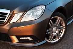 Detalhe da roda dianteira, do amortecedor e da luz Fotos de Stock Royalty Free