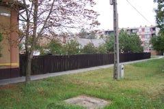 Detalhe da rua de Hungria Toeroekszentmiklos Imagens de Stock