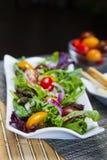 Detalhe da salada da mistura da mola Imagem de Stock Royalty Free